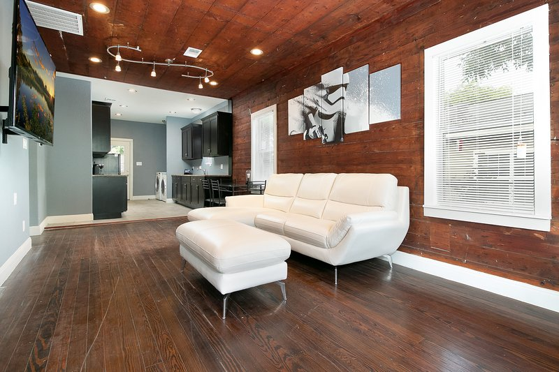 Living Room, Leather Couch, Star Wars, Kitchen/Dining