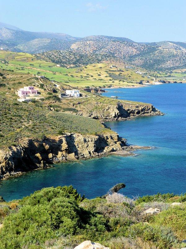 The villa in  a unique wild Cycladic coast