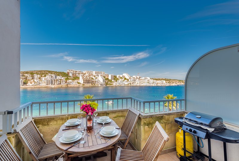 Spectacular Sea Views From Front Terrace. Terrace With Outdoor Furniture and Gas BBQ.