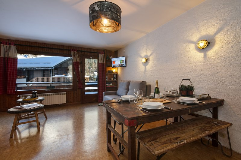 Homely studio with a private balcony
