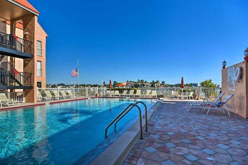 Nestled in the Boca Shores Condominiums, you'll have access to resort amenities.
