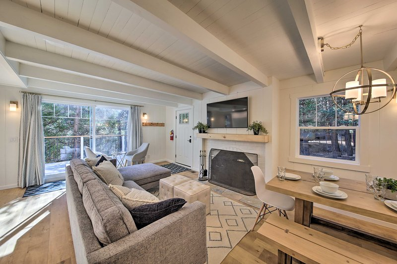 Enjoy a mountain getaway at this 3-BR, 2.5-BA Lake Arrowhead vacation rental!