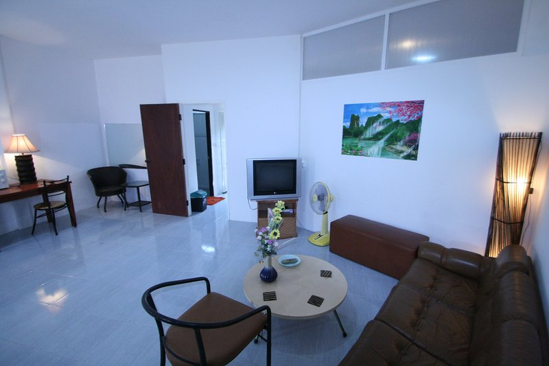 The 60 sq. m living room.
