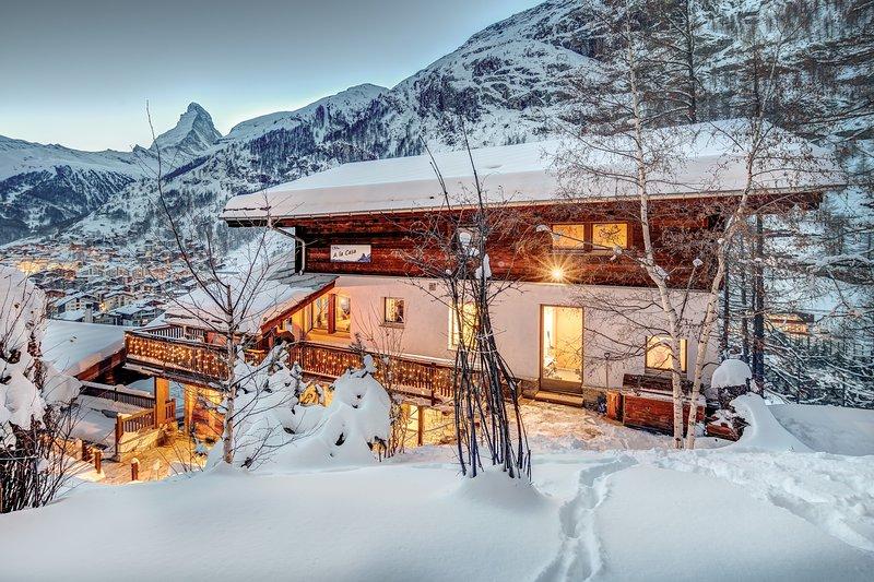 Chalet A la Casa Zermatt - Vista sobre el pueblo y el Matterhorn