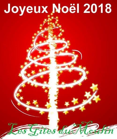 Méraville gård (logi av kvarnen) önskar dig en god jul 2018!