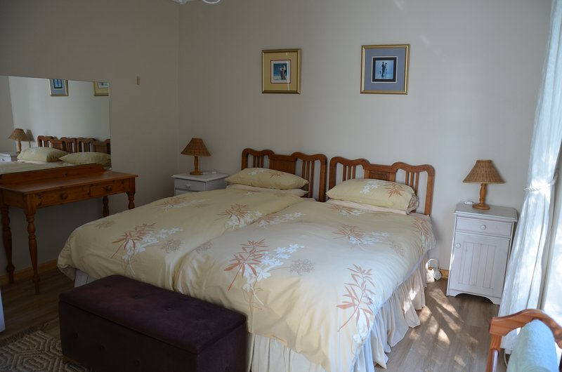 Twin bedded room can be converted to double.  En suite with toilet, basin & shower