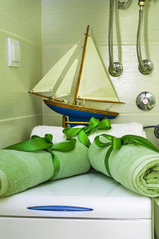Toalhas / decoração do banheiro