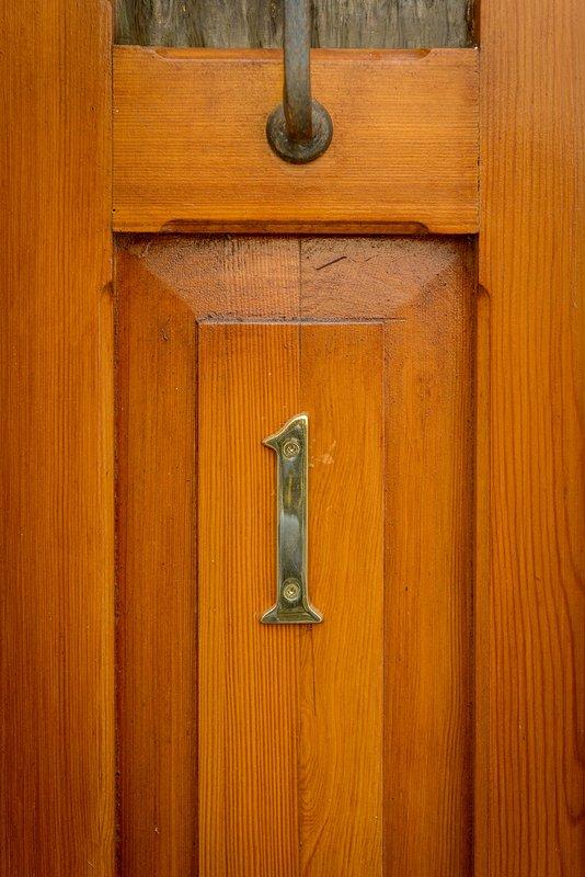 The door to the property