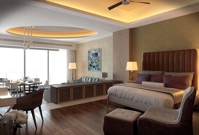Vista del dormitorio Grand Luxxe Loft