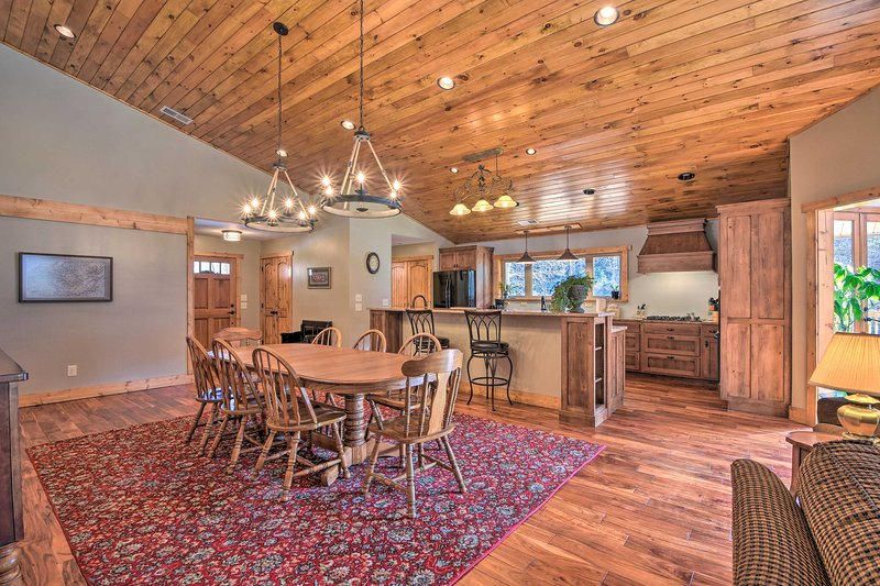 This Franklin home features an open floor plan - perfect for entertaining.