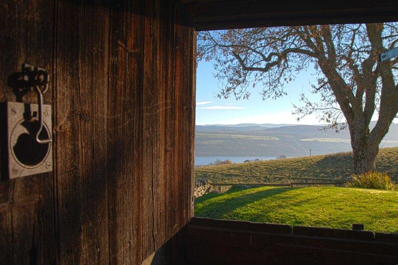 View from steading door.