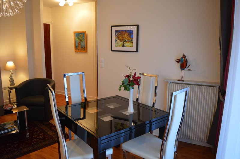 "The studio in ""living mode"" the dining room"