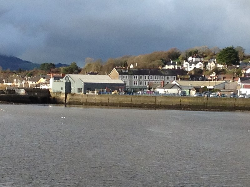 A view of Pwllheli town from the harbour walk.