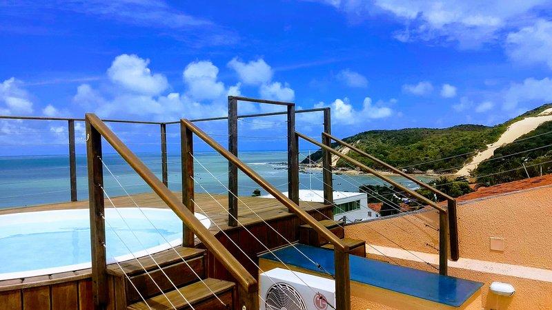Casa em Ponta Negra com vista para Morro do Careca, alquiler de vacaciones en Estado de Río Grande del Norte