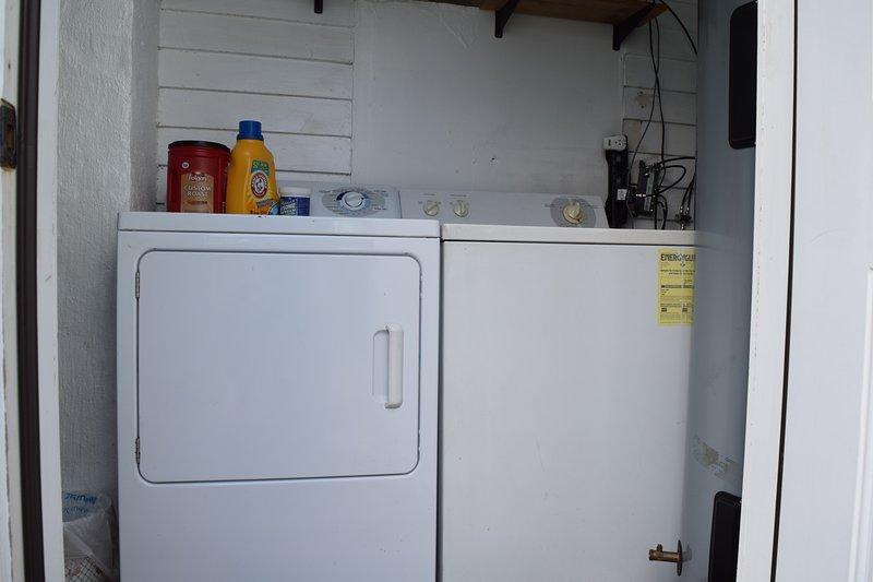 'The Boardroom' aka the shared laundry!