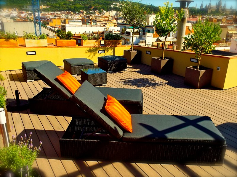 Your terrace awaits, perfect for small get-togethers, sunning, reading, dining..