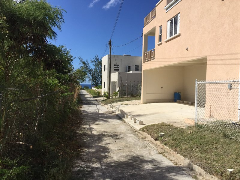 Access road to apartment