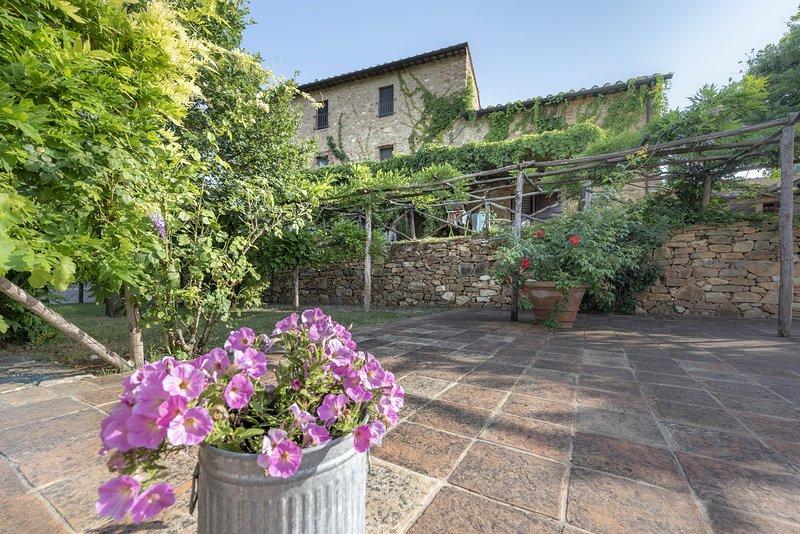 Casole Elsa, country house,Chianti,Ca,terrace,swimmingpool,child-friendly,Wi-Fi, alquiler vacacional en La Selva