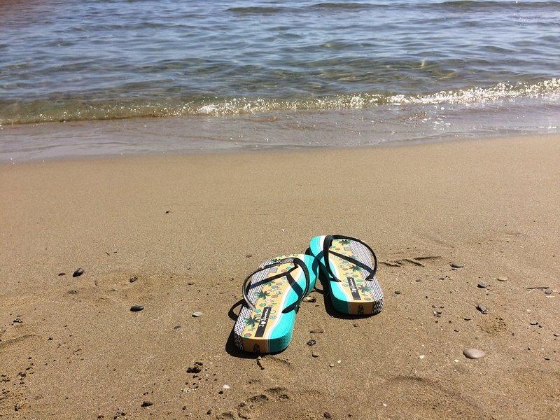 La douce plage de sable de Makrygialos - sûre pour tous les âges