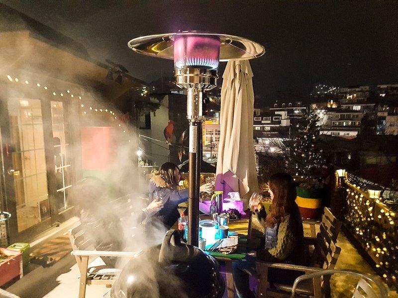 BBQ Terrace  at Night