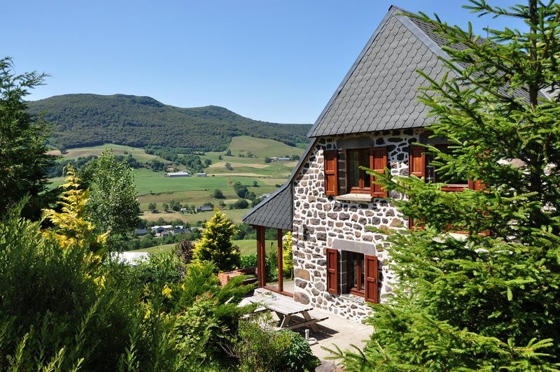 Farmhouse Auvergne Mountain view, vacation rental in Albepierre-Bredons