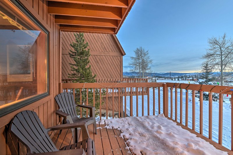 Look out to snow-capped peaks from your private balconies!