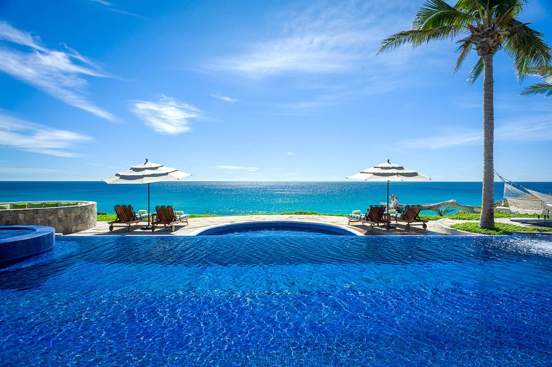 Enjoy the stunning view of the Sea of Cortez off the spacious terrace at Villa Estero