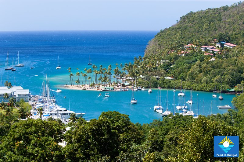 Marigot Bay, one of the most beautiful bays on hearth.