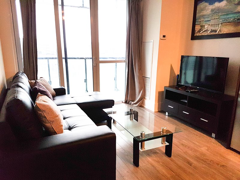 Beautiful condo with a high rise view of the downtown Toronto