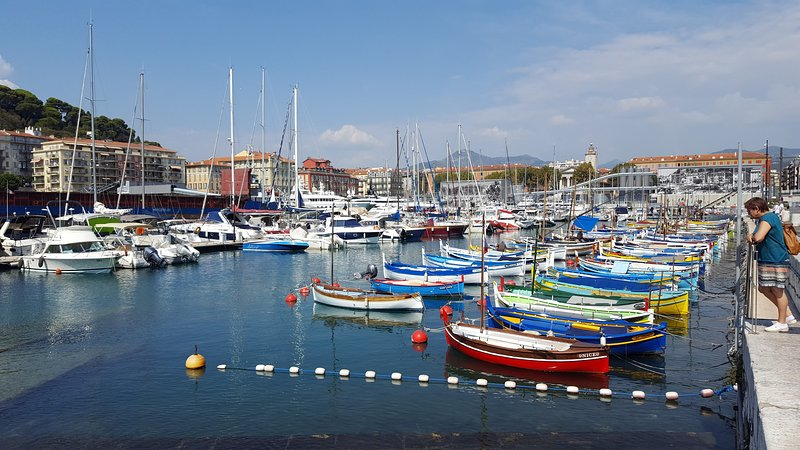 """Port of Nice and its famous """"sharp Nice"""". Distance 10mn walk"""