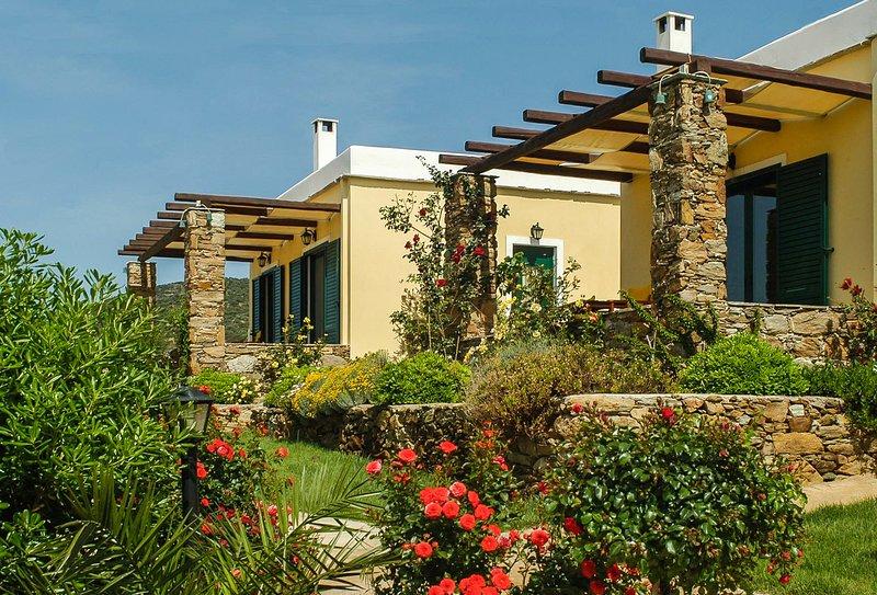 Amazing Ecological Villa Amidst Tranquil Nature, location de vacances à Marmari