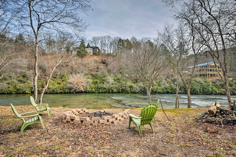 The waterfront property sits right on the water and offers 2,000 square feet.