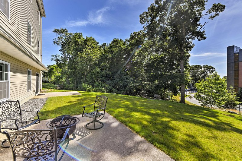 Enjoy views of the campus right from your backyard.