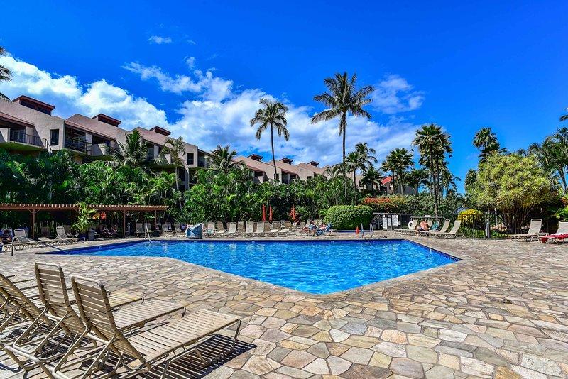 La casa vacanza con 1 camera da letto e 2 bagni si trova a Kamaole Sands.