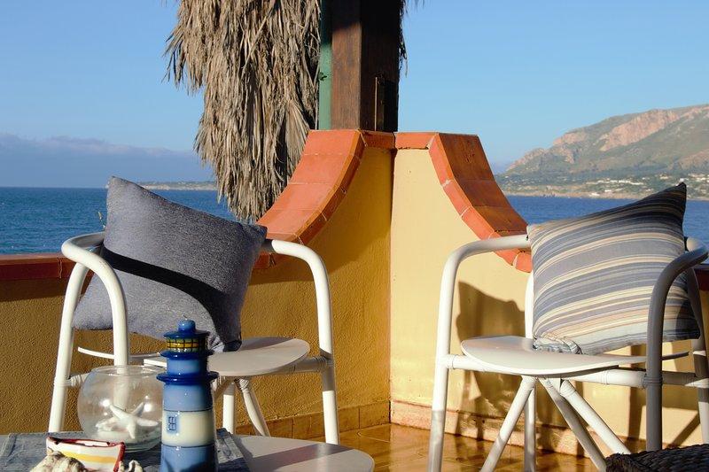 Villa Ciammarita Beach | Suite con veranda vista Mare, vacation rental in Trappeto