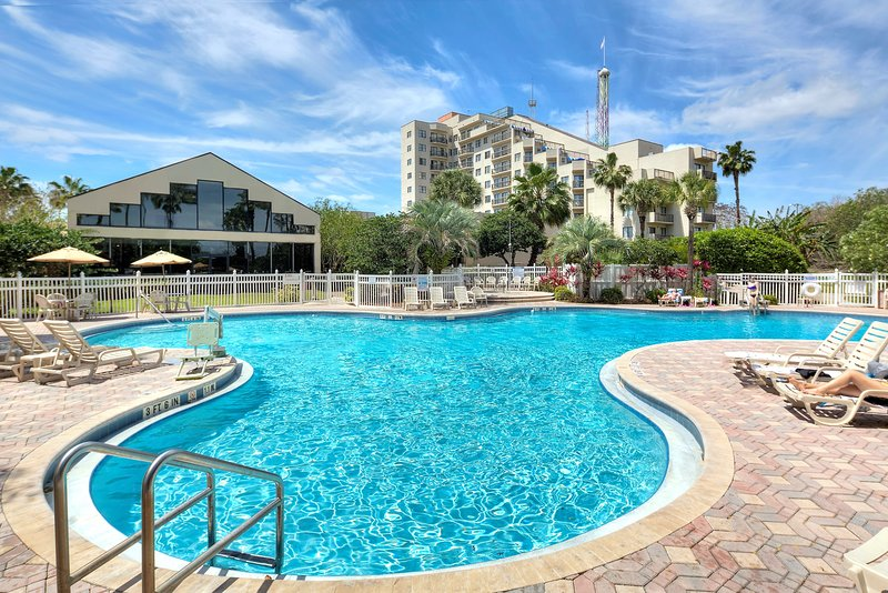 You'll love swimming in the outdoor pool!