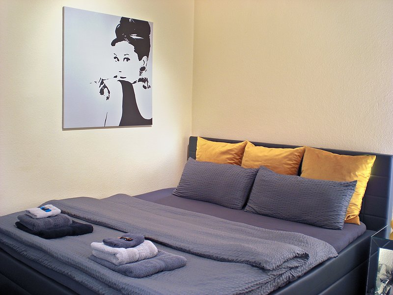 Doppelzimmer № 2 Audrey Hepburn - 'Lion Homestay Munich' - 20min zum Marienplatz, holiday rental in Oberhaching