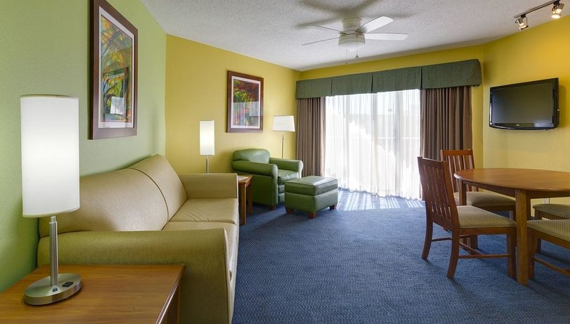 Relax and enjoy a movie on the Flat-Screen TV in our suite!