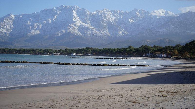 Calvi, la spiaggia a dicembre