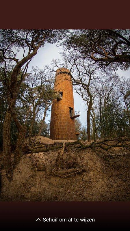 La torre di osservazione De Bosbergtoren, proprio dietro l'alloggio