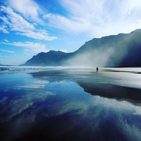 The famous Famara Surf beach only 15 min drive away