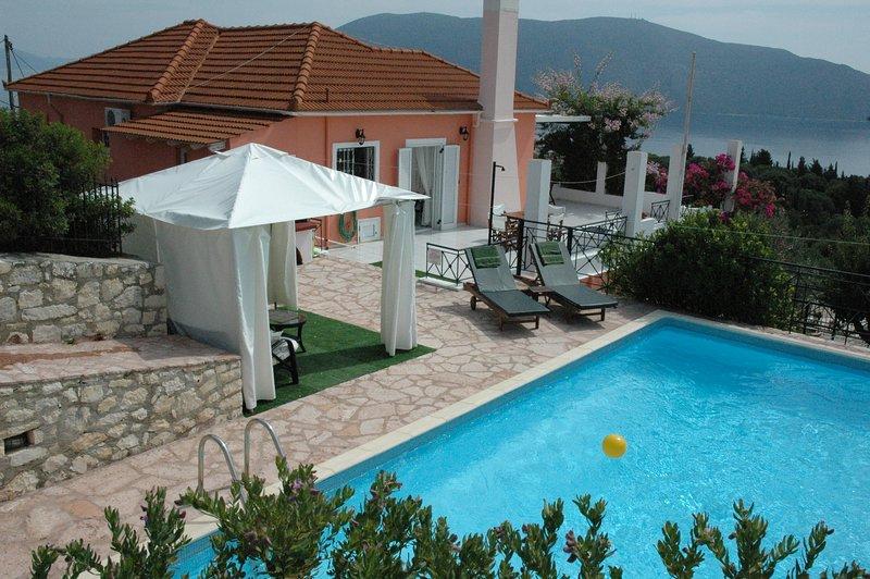 Evreti Villa in picturesque traditional village near Fiscardo, holiday rental in Platrithias