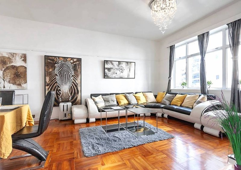 This is the living room. Free High Speed Wifi, Central and a Fully Equipped Kitchen with Dining