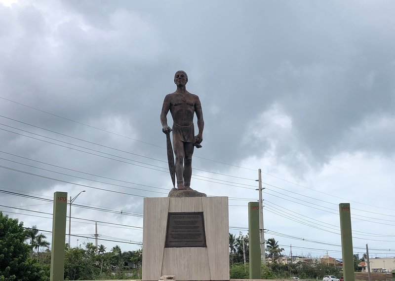 Visit the statue of Lokillo, one of the great leaders of the native people of Boriken.