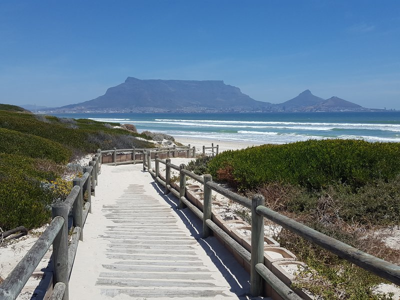 250min walk to our world famous kite surfing destination, with Table Mountain backdrop