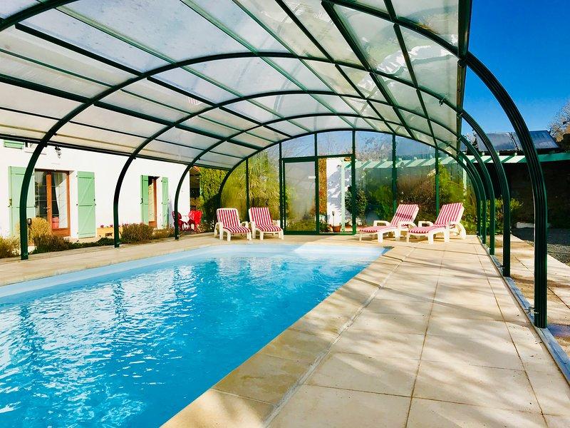 La Blatière -heated swimming pool