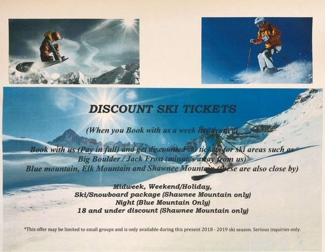 Discount Ski Tickets when you Book with us a week i advance !!
