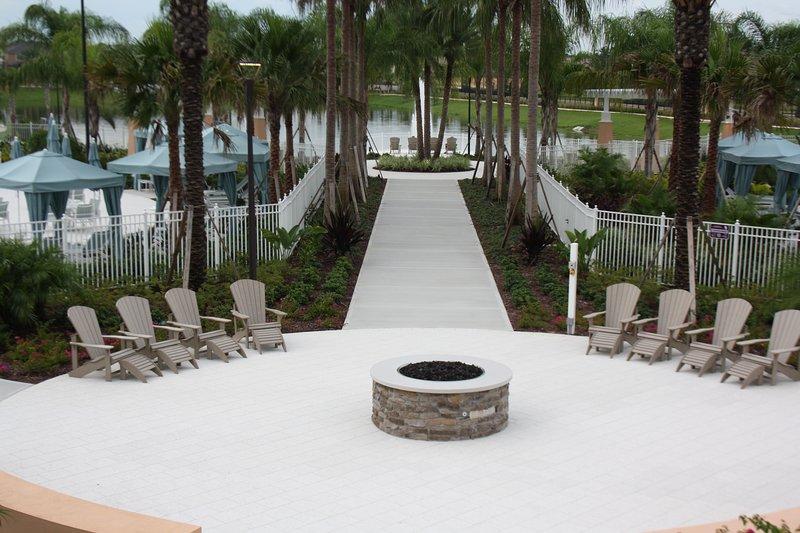 Resort-Chimenea al aire libre