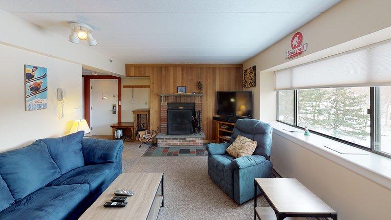 Salon principal avec cheminée