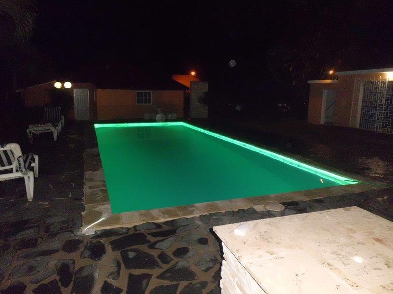 pooll fun at night